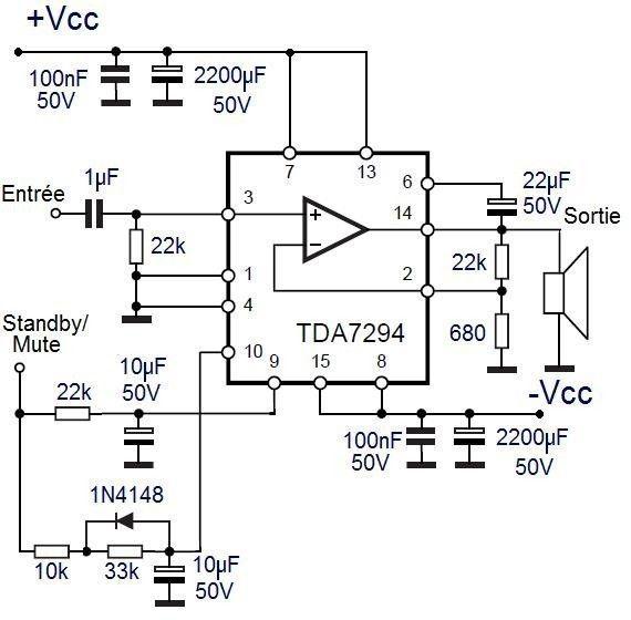 L ampli tda7294 5 t Audio amplifier