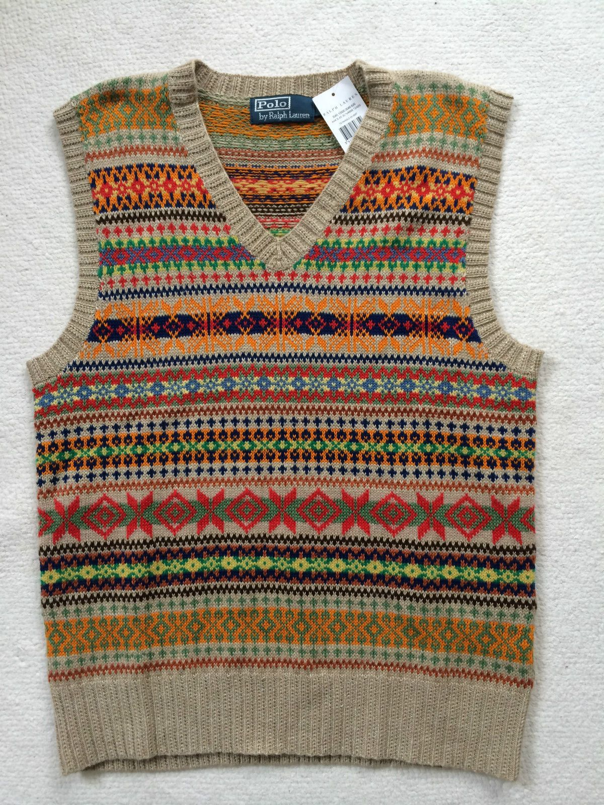 ed7de132cbf15 RALPH LAUREN Men s (M) Sleeveless Fairisle Silk Cashmere blend Jumper Tank  Top in Clothes