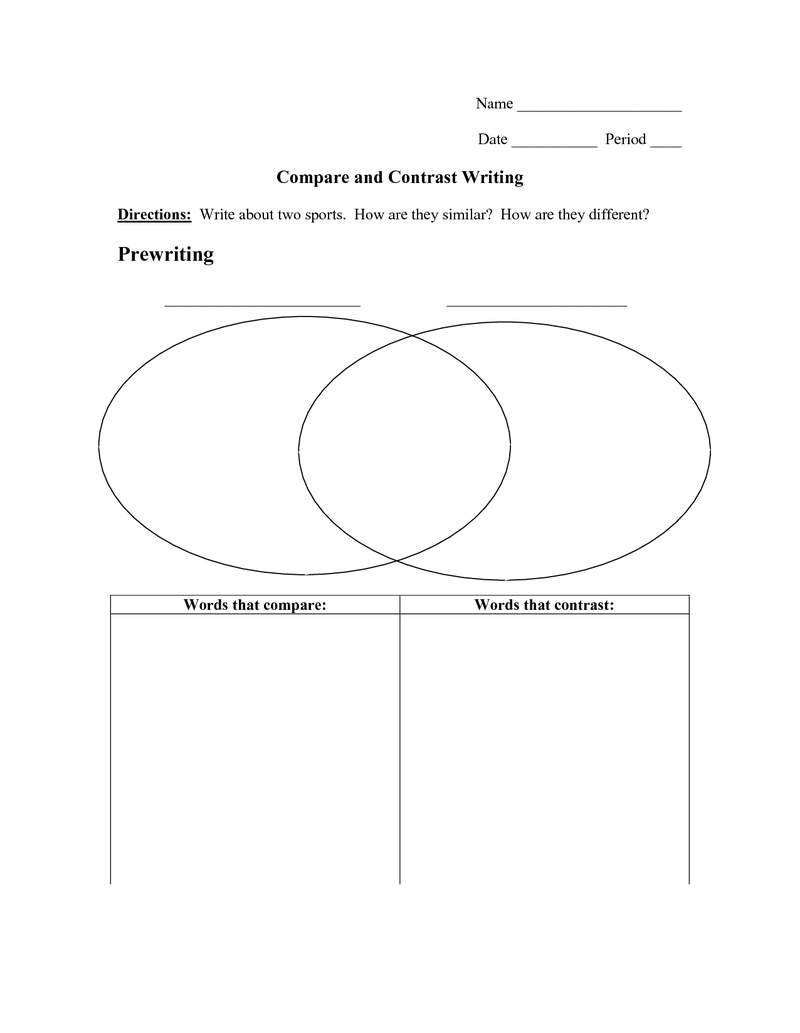 Worksheets Compare Contrast Worksheets page 1 compare contrast writing worksheet pdf lesson plans pinterest worksheets and worksheets