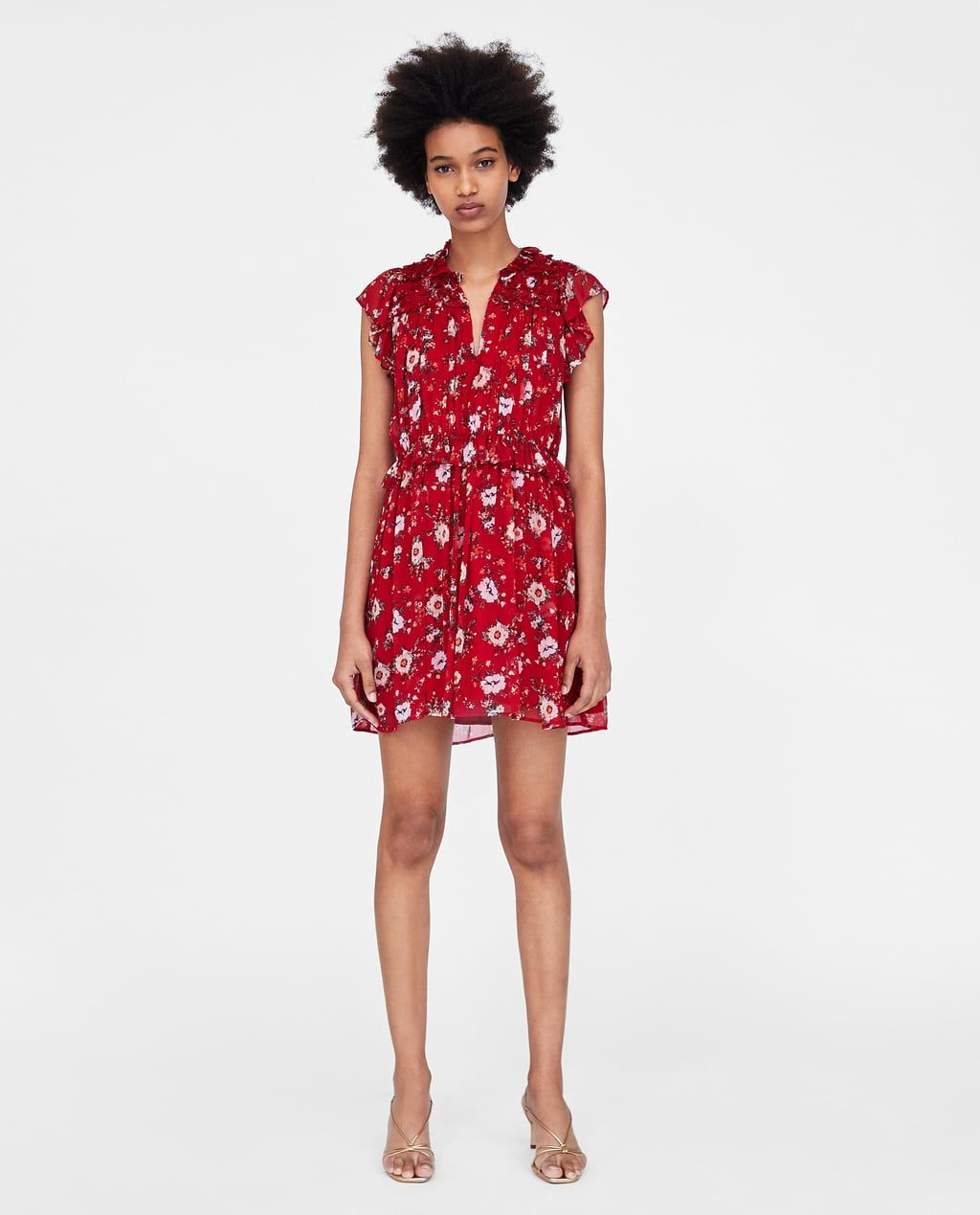 344b0194 Image 1 of RUFFLED FLORAL PRINT DRESS from Zara | Fashun Hunni ...