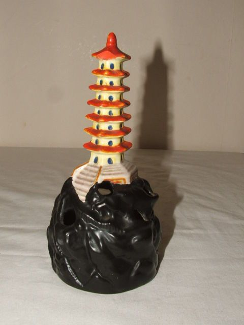 Wilkinsons Art Deco Rare Pagoda Flower Holder Truly Stunning Vases