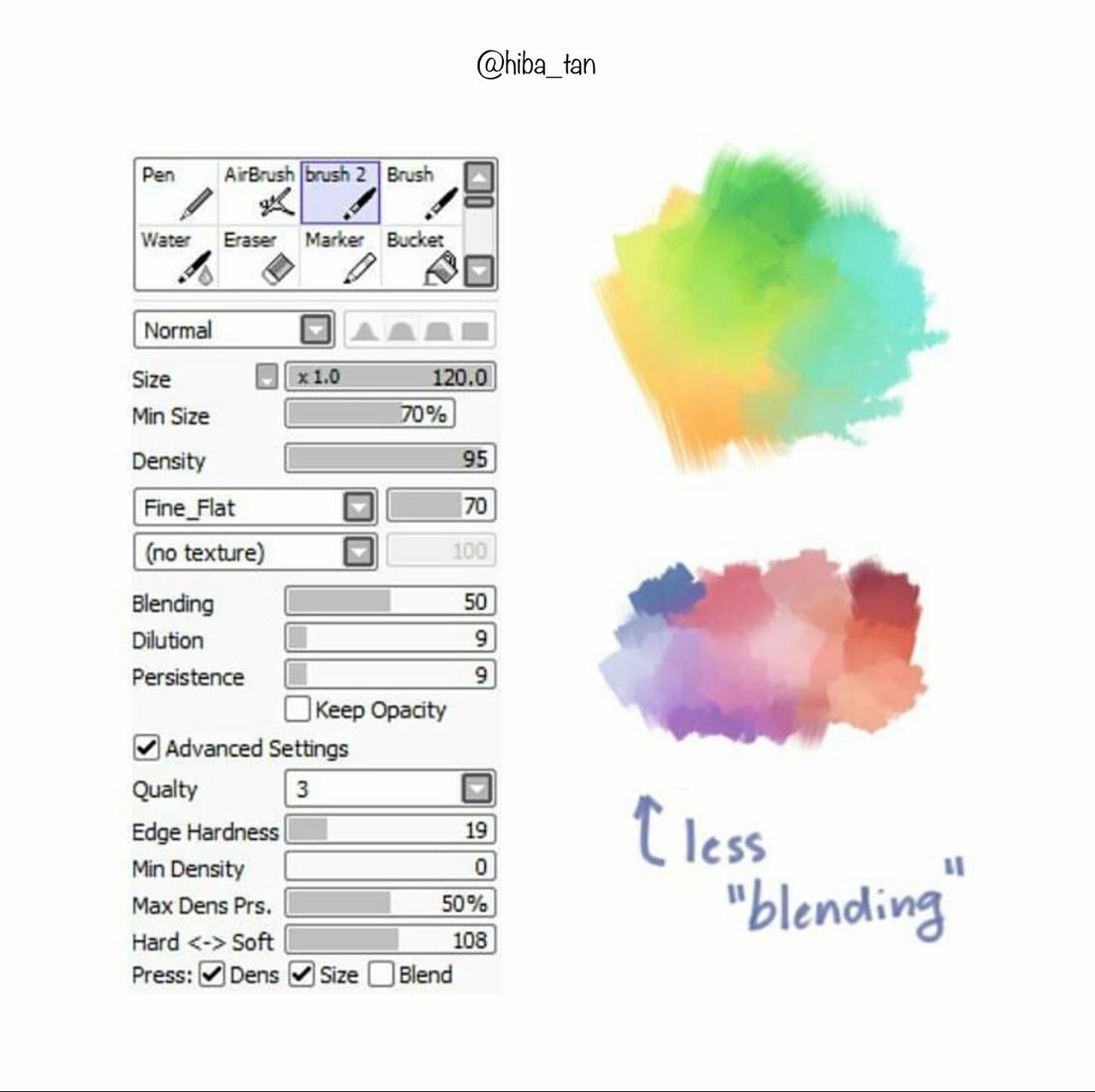 Pin by nun on B- Paint tool Sai in 2019 | Firealpaca brushes