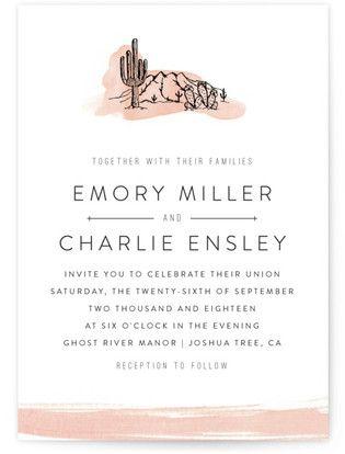 Painted Desert Wedding Invitations #cactusweddinginvitations #succulentweddinginvitations #rusticweddinginspiration