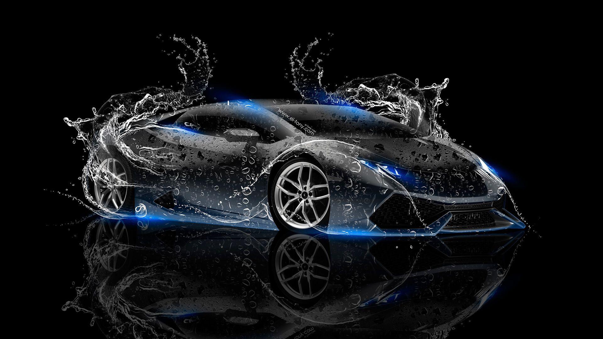 Lamborghini Huracan Super Water Car 2014 Blue Neon