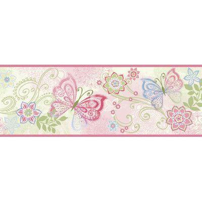 Zoomie Kids Melnick Boho Butterflies 15' x 6.5'' Floral