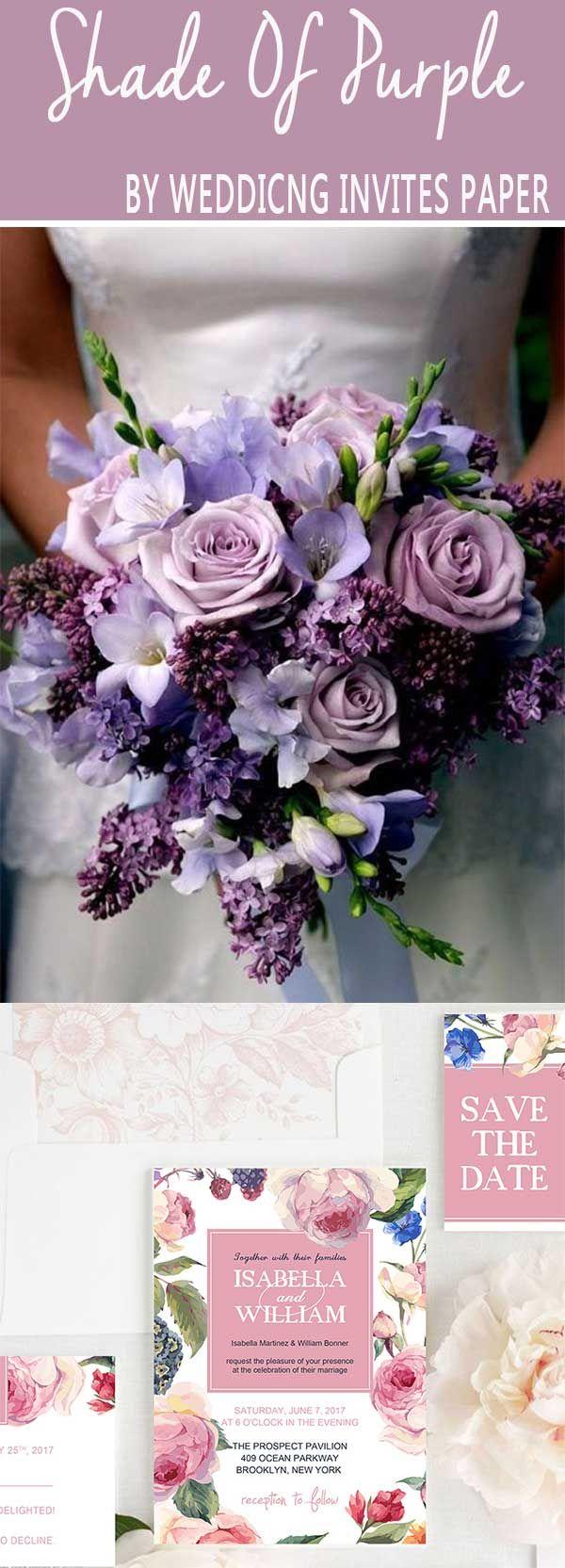 2018 brides favorite weeding color stylish shade of purple 2018 brides favorite weeding color stylish shade of purple wedding invites paper shade of purple wedding bouquet blush pink izmirmasajfo