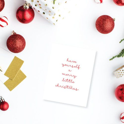 merry little christmas greeting card set meredith collie paper