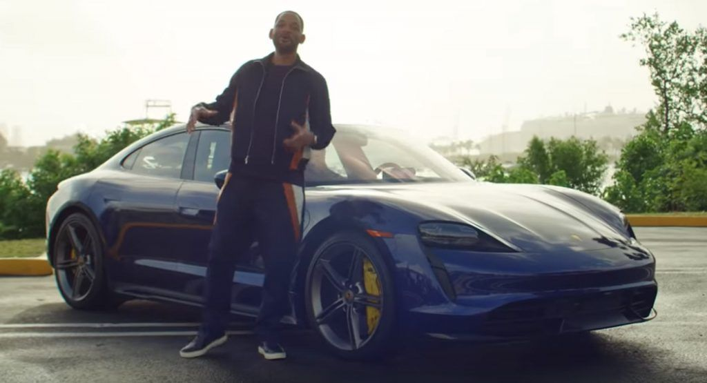 Bad Boys For Lifes Will Smith Gives Strangers A Lyft In Electric Porsche Taycan Turbo S In 2020 Porsche Taycan Porsche New Porsche