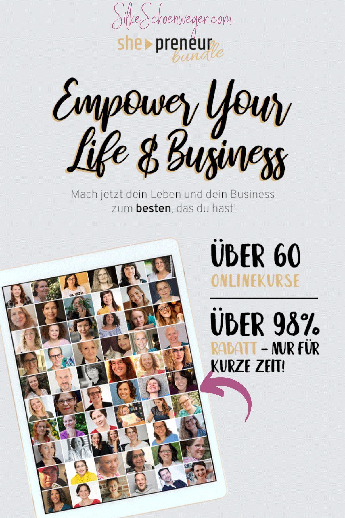50 Expertinnen Uber 60 Onlinekurse Unschlagbarer Rabatt Das She Preneur Bundle 2020 Online Geld Verdienen Online Marketing Stress Management