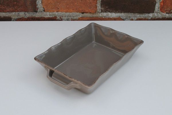 Ceramic Ovenware Dish - Small Rectangular Mink.  Perfect for any family meal.   Price  is£19.00 + P&P