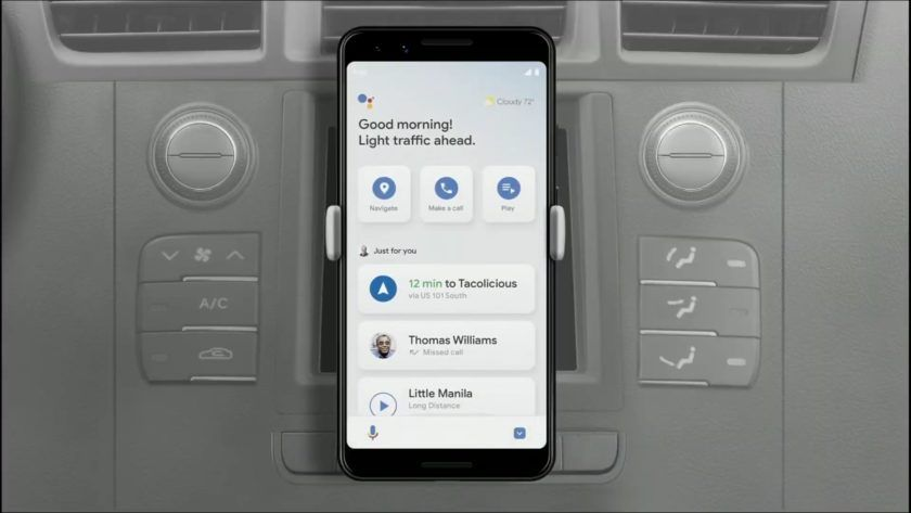 Google Assistant will make driving easier (Update Android
