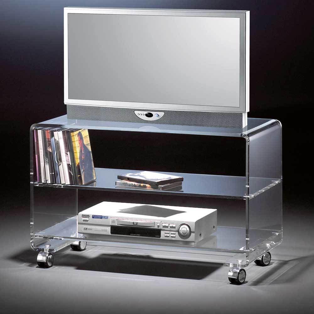 TV Rollwagen aus Acrylglas 80 cm breit Jetzt bestellen unter s