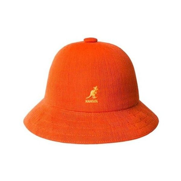 39e012d227baa2 Kangol Tropic Casual ($60) ❤ liked on Polyvore featuring accessories, hats,  orange, orange bucket hat, fishing hat, bucket hat, kangol and kangol hats