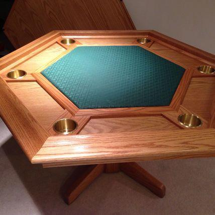 Oak Poker Table Octagon Poker Table Poker Table Plans Custom Poker Tables