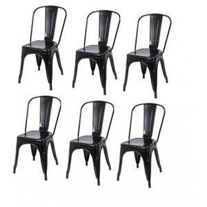 Lot de 6 chaises de salle  manger style industriel factory métal