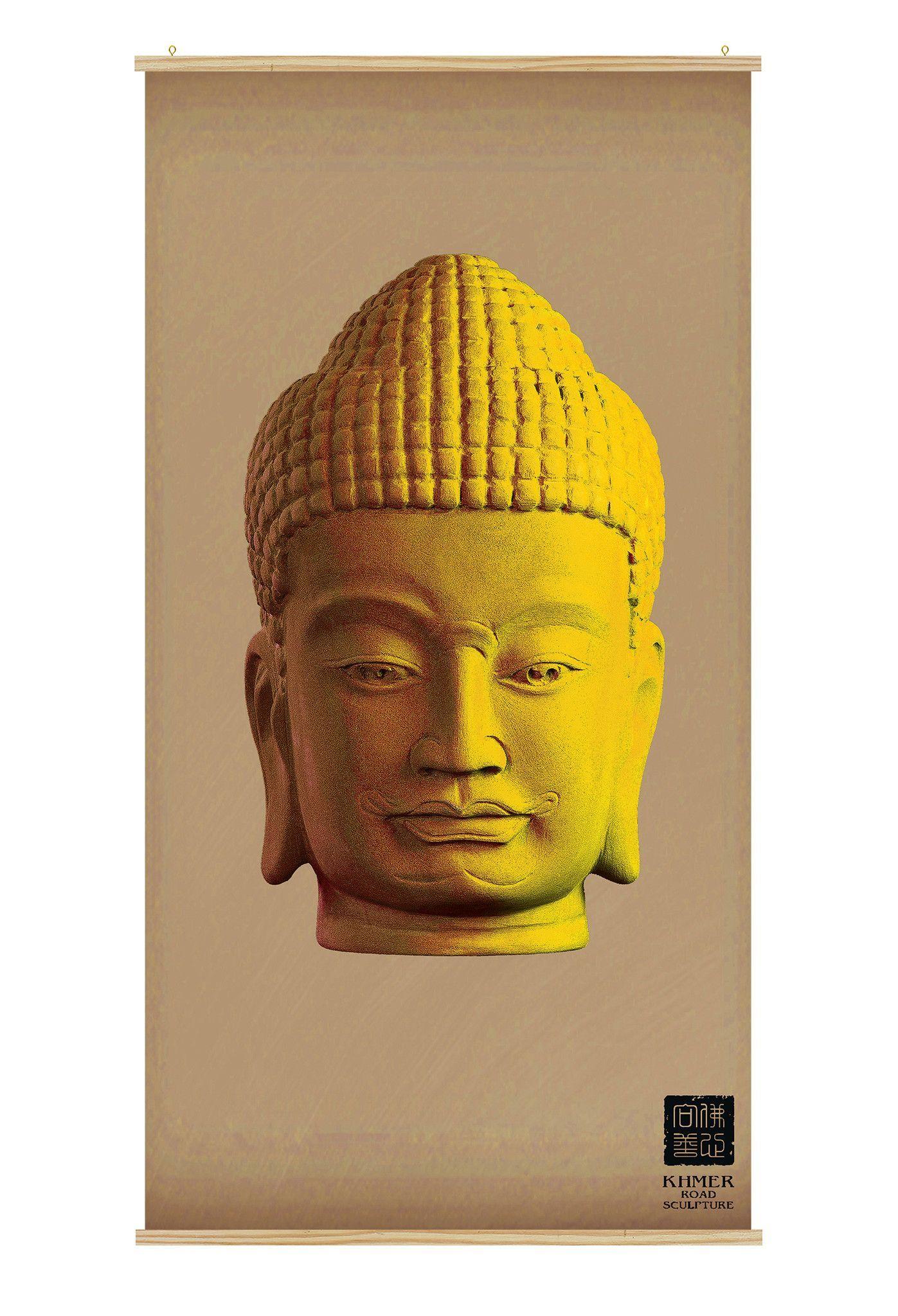 Buddha Canvas Wall Art - Kakémono scrolling poster CK-008 ...