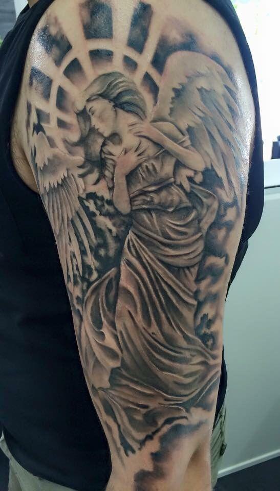 alessandro schirone / tattoo nero ink #tattoo #angel # ...