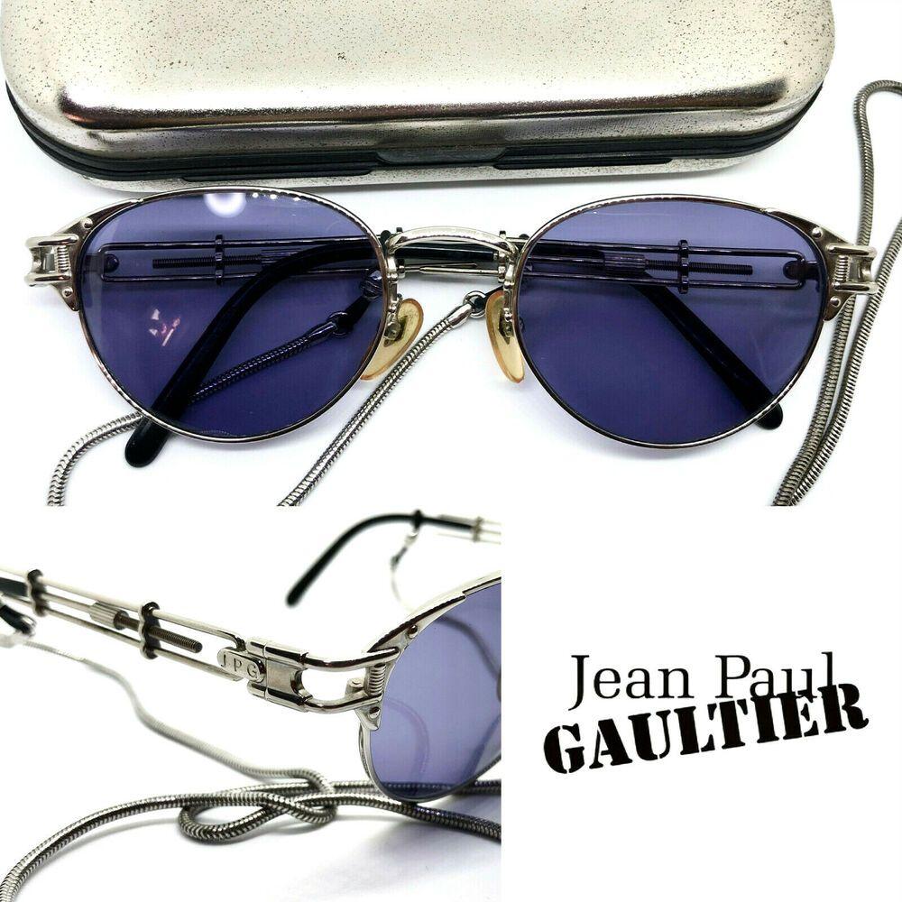 511c02f3c695c Jean Paul Gaultier 56-4117 Vintage Sunglasses Eyeglasses   Silver MIGOS