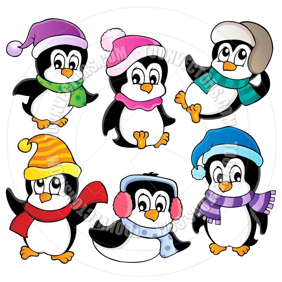 Cartoon Cute Penguins Cute Penguins Christmas Cartoons Penguin Clipart