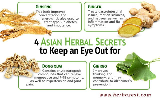 4 Asian Herbal Secrets to Keep an Eye Out for | healthy
