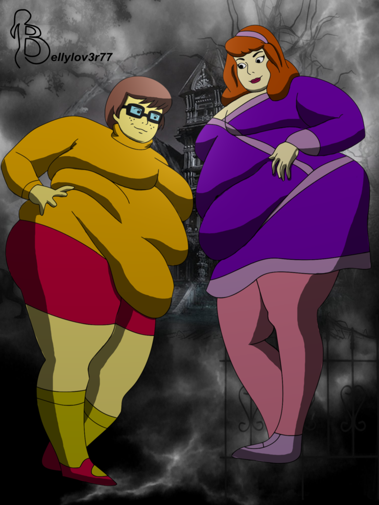 Daphne and Velma BBWs by bellylov3r77 Fat Cartoons Scooby Doo I