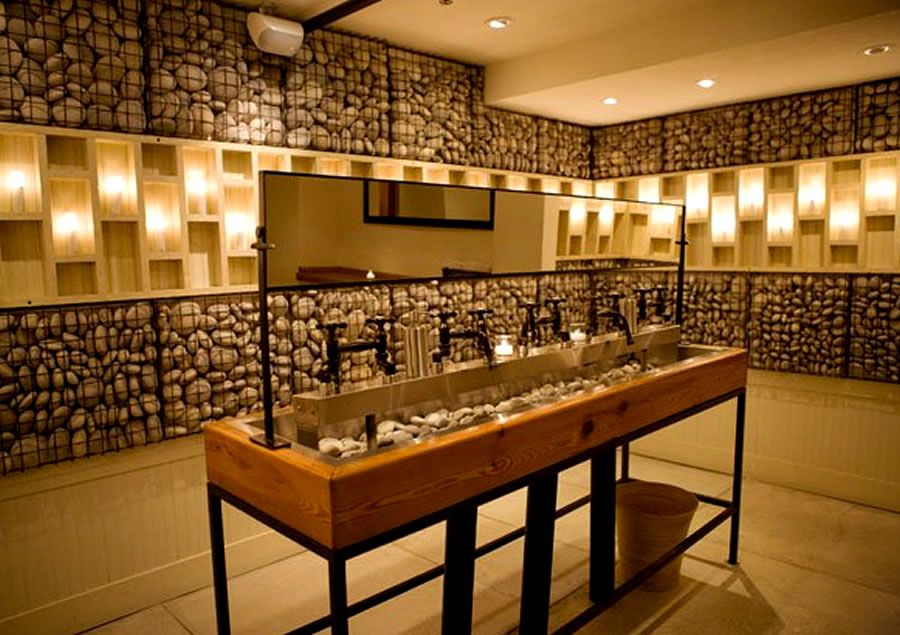 contemporary decor restaurant restroom interior design rayuela lower east side nyc - Restroom Design