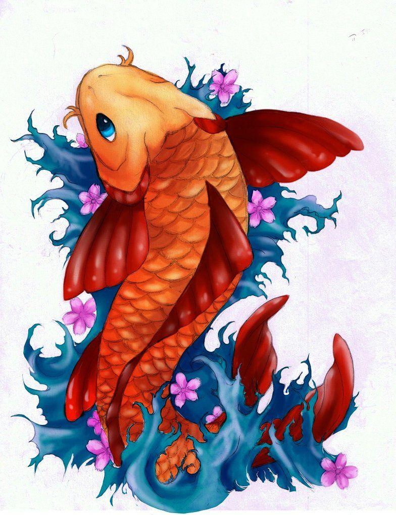 how to paint a koi fish - Google Search | Koi Fish | Pinterest