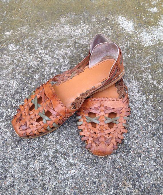 4ce858f430d0 Huarache Sandals Vintage Huarache Sandals 70s by MidwestThrifter
