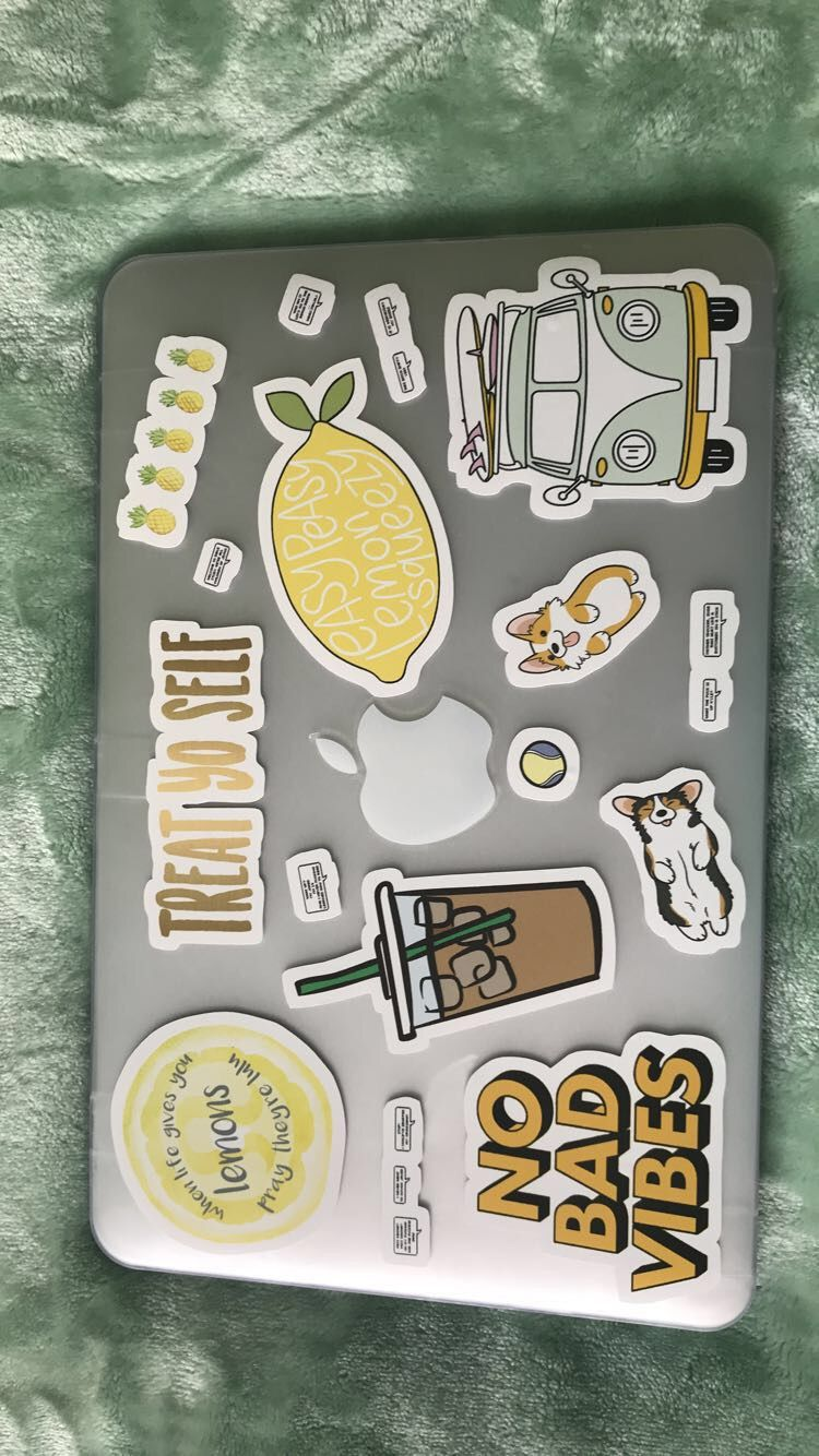 Redbubble laptop stickers alianoor
