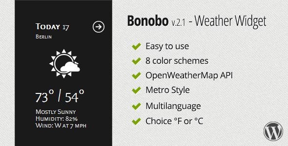 Bonobo Weather Wid