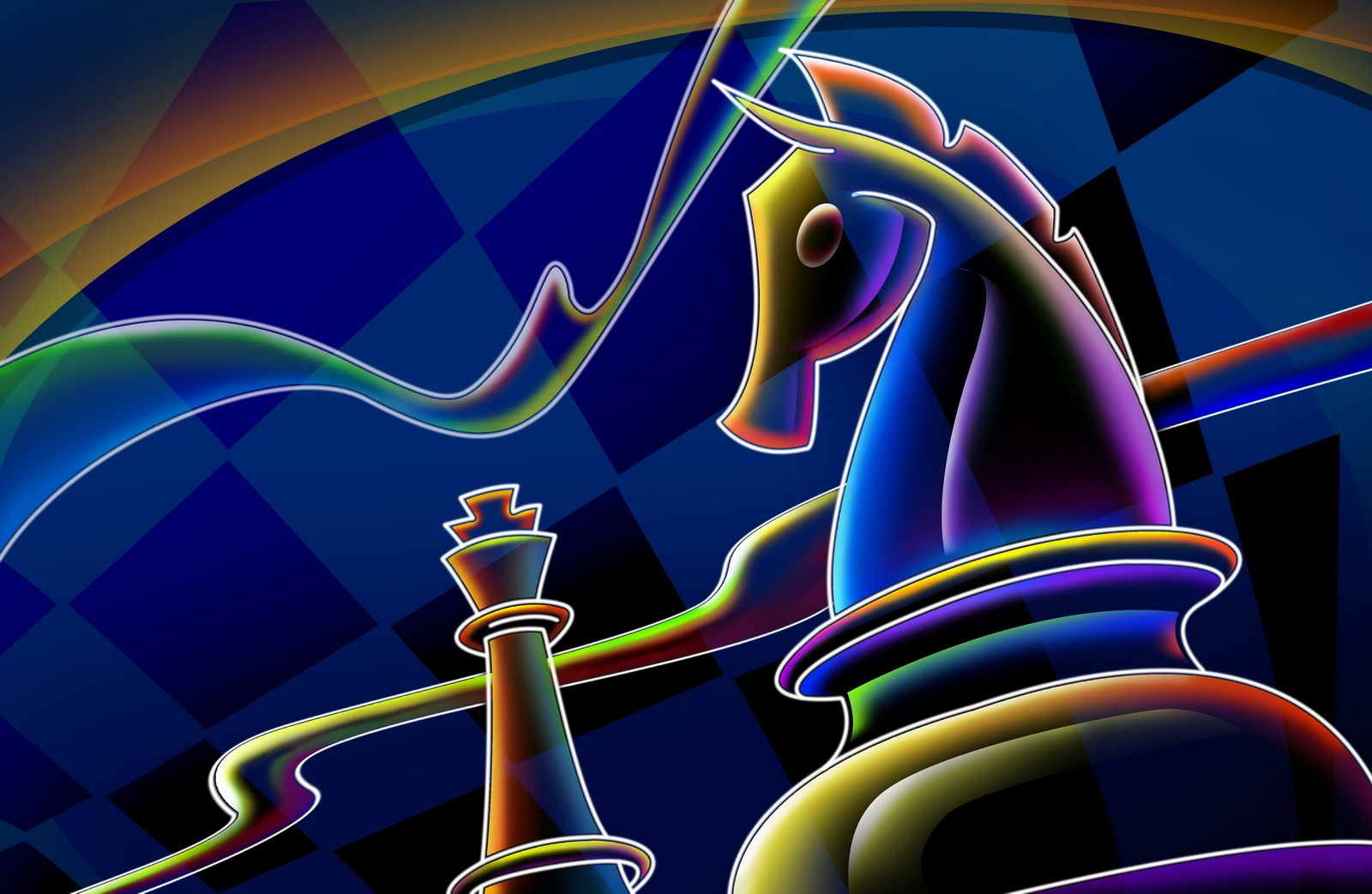 Chess desert images Neon Chess, 3D, 3D and CG, Chess