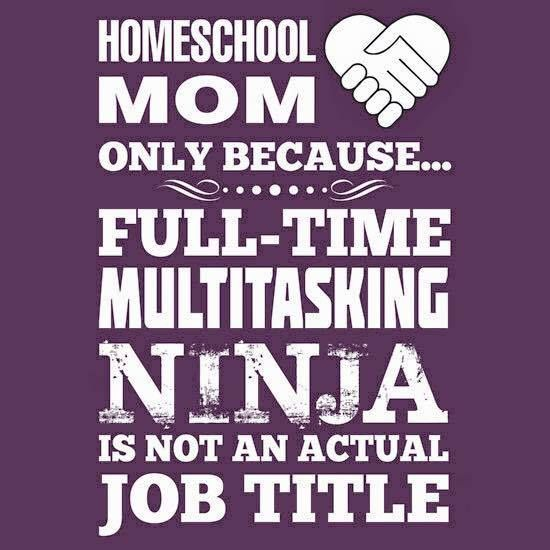 This is true! Homeschool Mom only because Full-Time Multitasking Ninja is not an actual job title