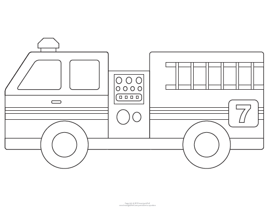 Hilaire image within fire truck template printable
