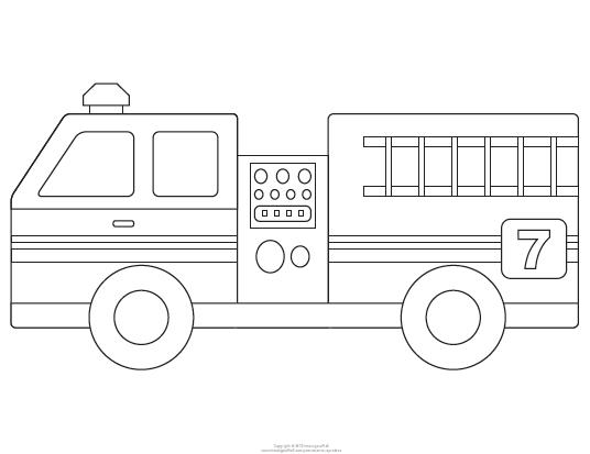 Fire Engine Template For The Boy Pinterest Fire
