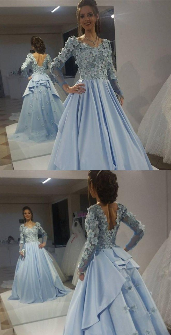 Long sleeves formal evening gowns prom dresses bd in