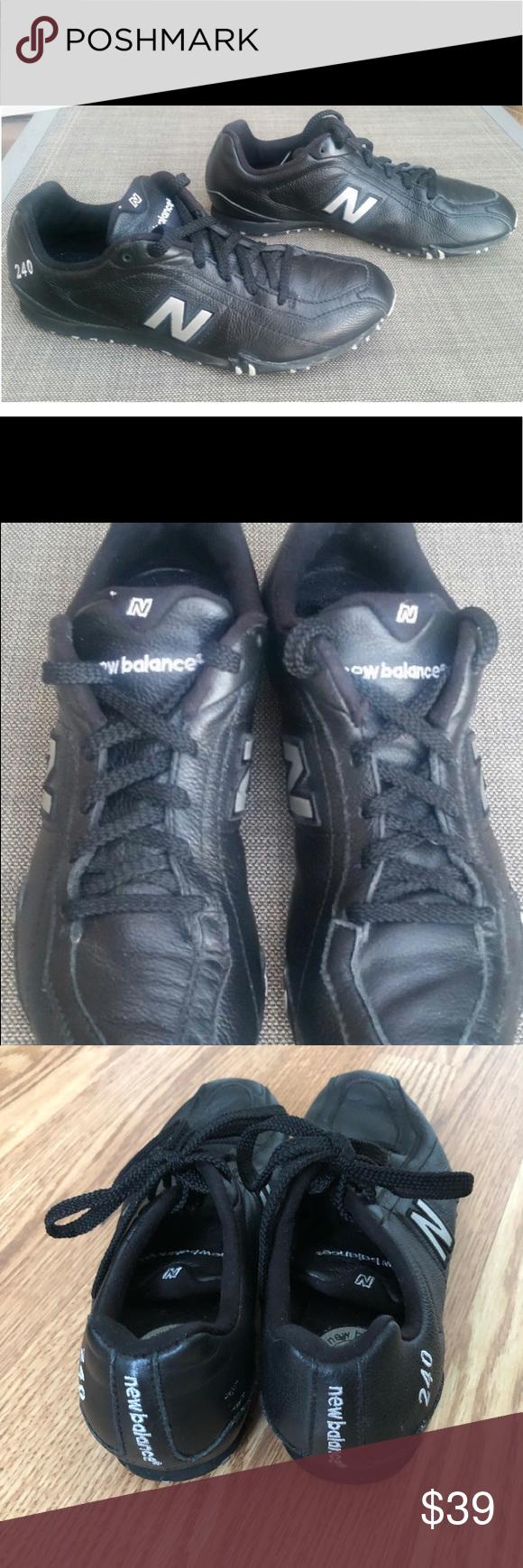 Black running shoes, New balance women