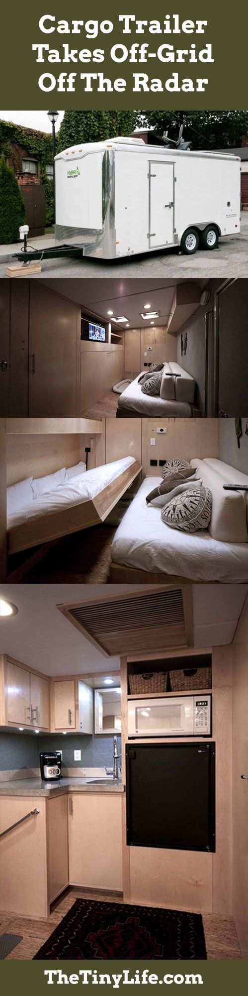 how about a stealth cargo trailer tiny home for your next road trip tolle idee einen einfachen. Black Bedroom Furniture Sets. Home Design Ideas