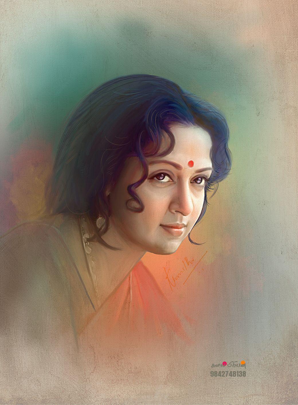 Paintings By Kamalpriyan Arts 9842748138 Portraiture Painting Female Art Painting Indian Art Paintings