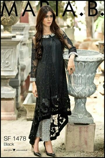 8bfaceaa36 Dress in black net fabrics@triptidhingra Pakistani Outfits, Indian Outfits,  Black Pakistani Dress