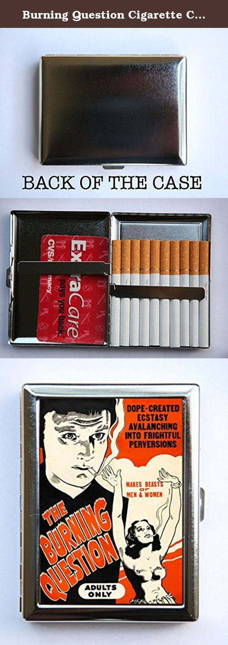 Burning Question Cigarette Case Wallet Business Card Holder