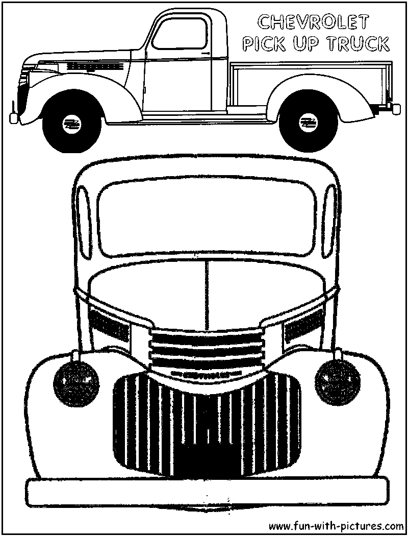 vintage truck color book pages