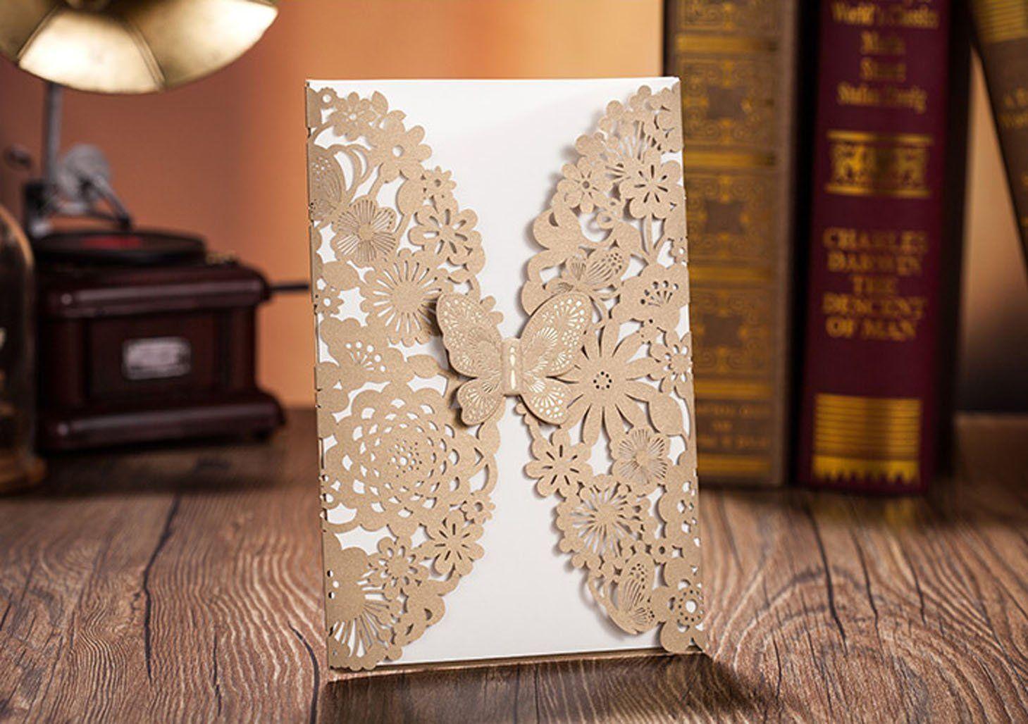 Amazon wonder palaza lase cut wedding invitation card with amazon wonder palaza lase cut wedding invitation card with butterflyset of stopboris Gallery