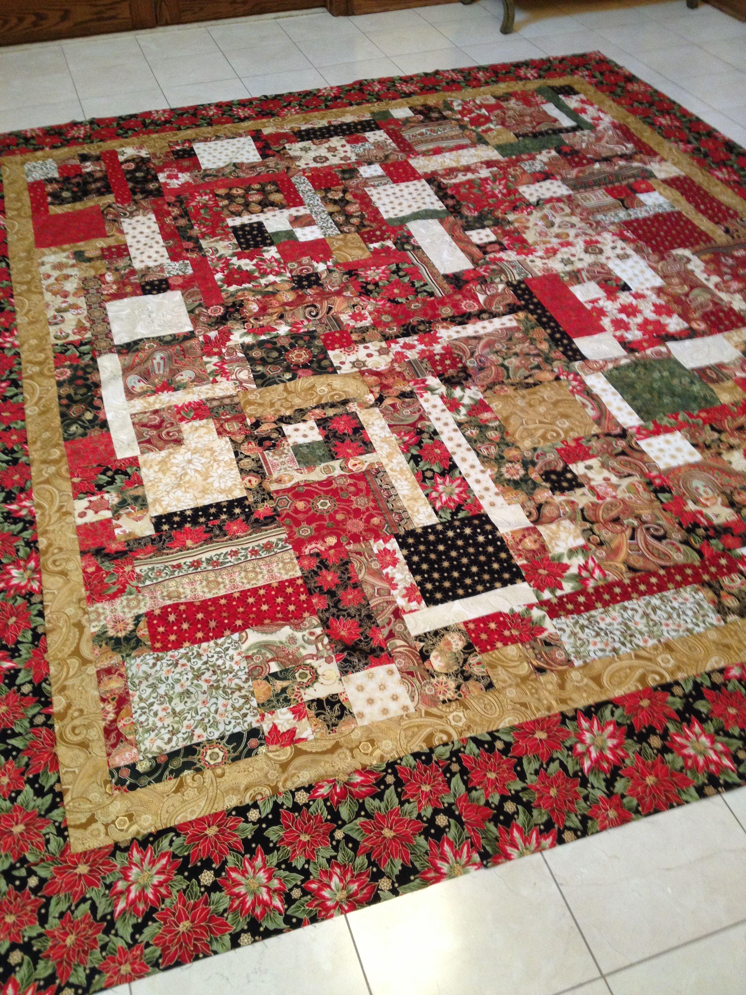 Robert Kaufman's Holiday Flourish fabric. Turning Twenty Again ... : turning twenty again quilt pattern - Adamdwight.com