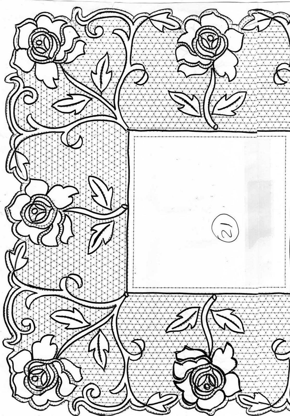 Pañuelo de tul | bolillos | Pinterest | Tul, Bolos y Bordado