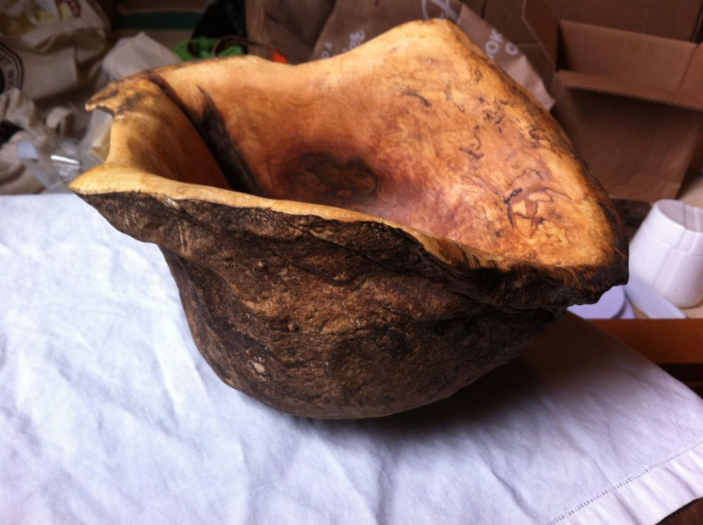 Don stinson studios carved ambrosia maple burl bowl