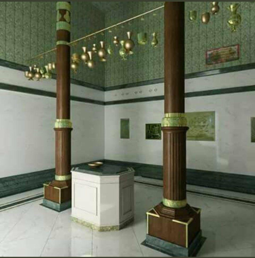 داخل الكعبة المشرفة Makkah Masjid Haram Mecca Kaaba