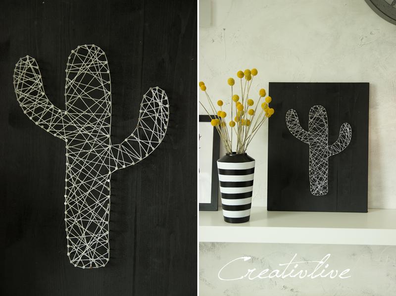 Creativlive diy nagel fadenbild kaktus und ein kissen for Nagelbilder vorlagen