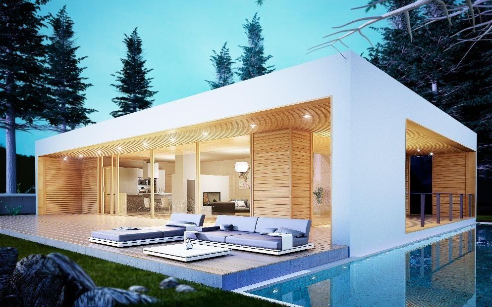 Venecia donacasa 175m2 hormig n celular con trasdosado tejado plano houses pinterest - Foro casas prefabricadas ...