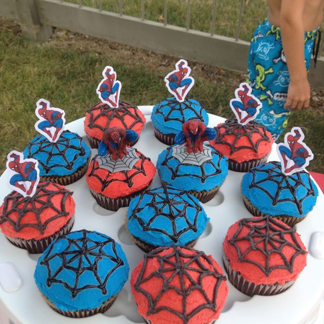 Spiderman vegan cupcakes...kids went crazy over these!!!!