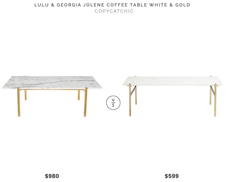 Lulu Georgia Jolene Coffee Table White And Gold 980 Vs Cb2